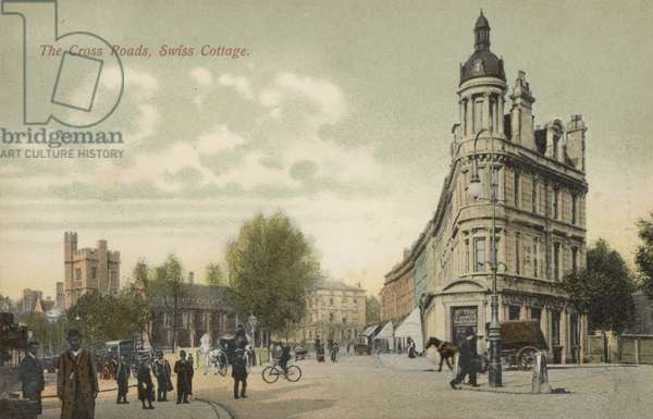 The Cross Roads, Swiss Cottage, London (colour photo)