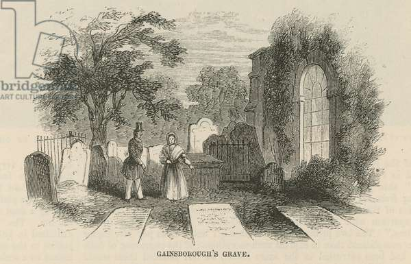 Thomas Gainsborough's grave (engraving)