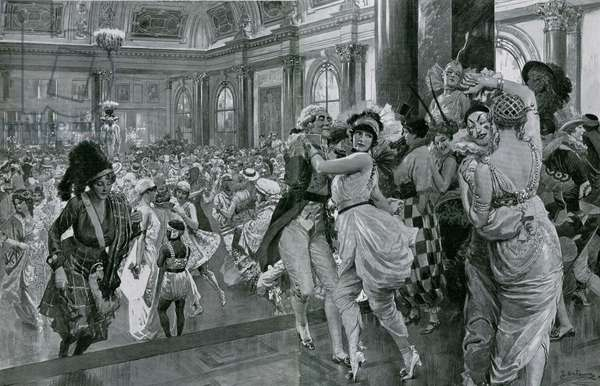 The Midnight Ball, the Savoy Hotel (litho)
