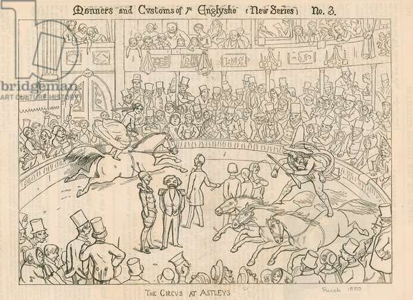 Manners and Customs of The English: The Circus at Astleys (Astley's Amphitheatre), London (engraving)