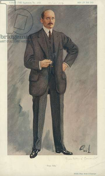 HRH Prince Arthur of Connaught (colour litho)