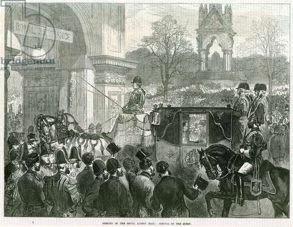Opening of the Royal Albert Hall by Queen Victoria (engraving)