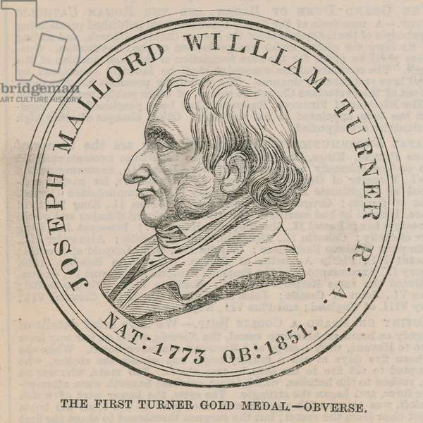 The first Turner Gold Medal (obverse) (engraving)