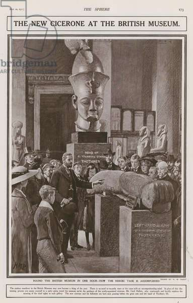 The new Cicerone at the British Museum (litho)
