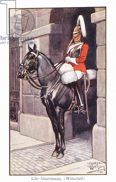 Life Guardsman (Whitehall) (colour litho)