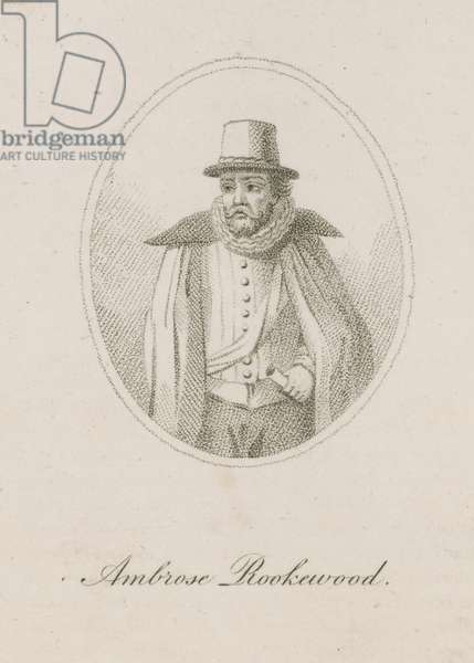 Ambrose Rookewood, a member of the Gunpowder Plot (engraving)