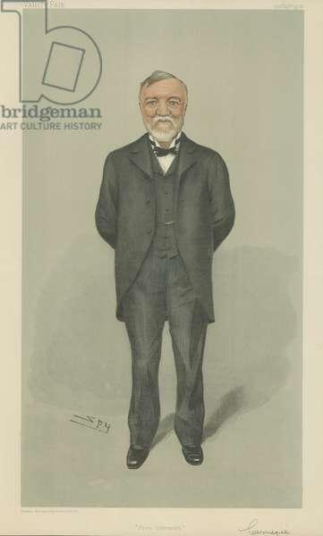 Mr Andrew Carnegie (colour litho)