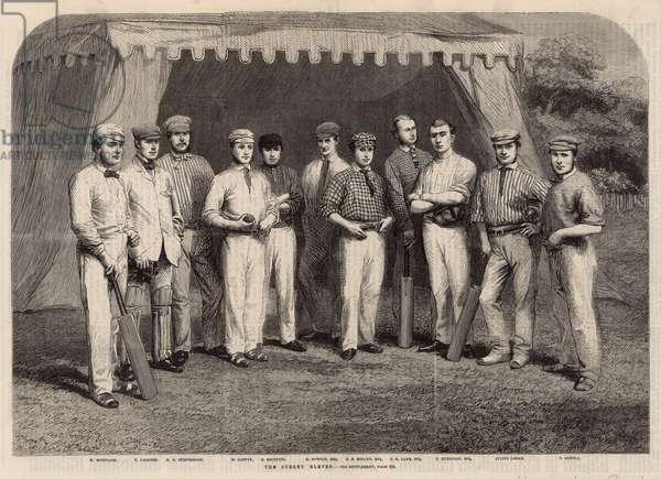 The Surrey Eleven cricket team (engraving)