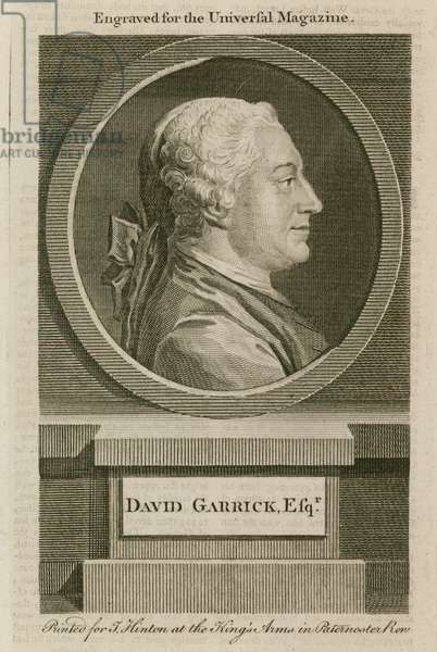 David Garrick, engraved for the Universal Magazine (engraving)