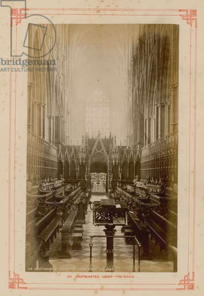 Postcard of the Choir of Westminster Abbey (photo)