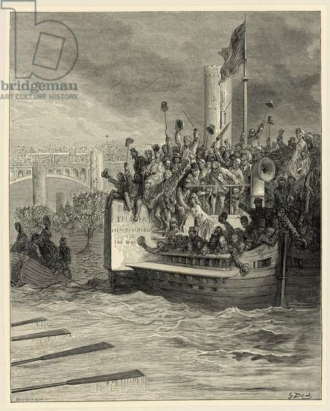 Oxford and Cambridge Boat Race, Putney (engraving)
