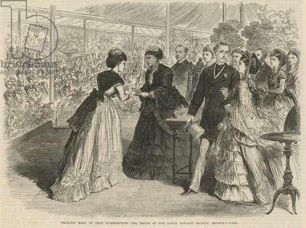 Princess Mary of Teck distributing the prizes (engraving)