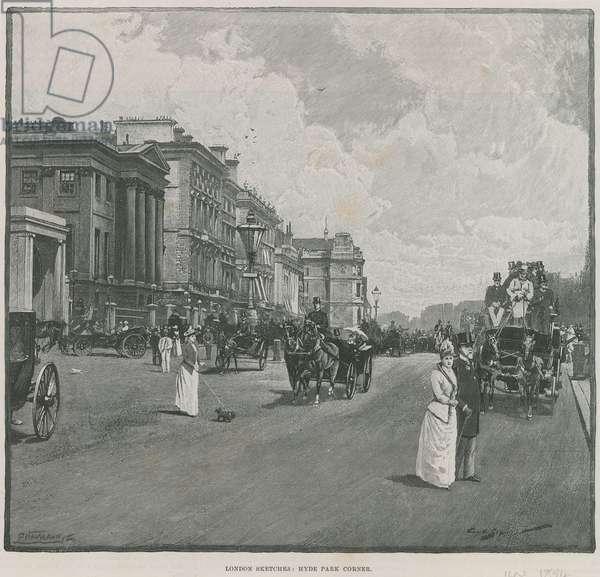 Hyde Park Corner, London (engraving)