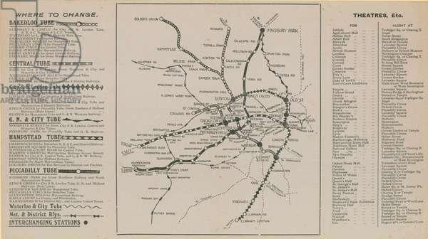 London Underground map (engraving)