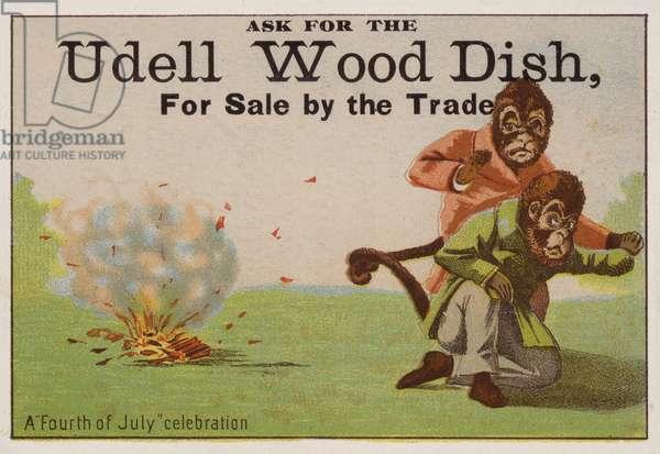 A Fourth of July celebration, trade card adverising Udell wood dishes (chromolitho)