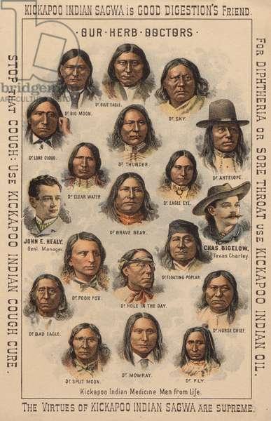 Kickapoo Indian medicine men (chromolitho)