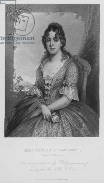 Mrs Thomas M Randolph, Martha Jefferson (engraving)