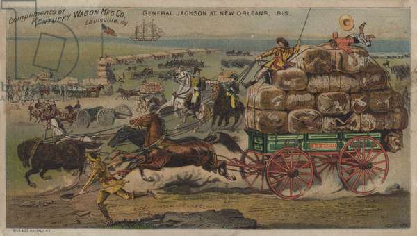 General Jackson, New Orleans, 1815 (chromolitho)