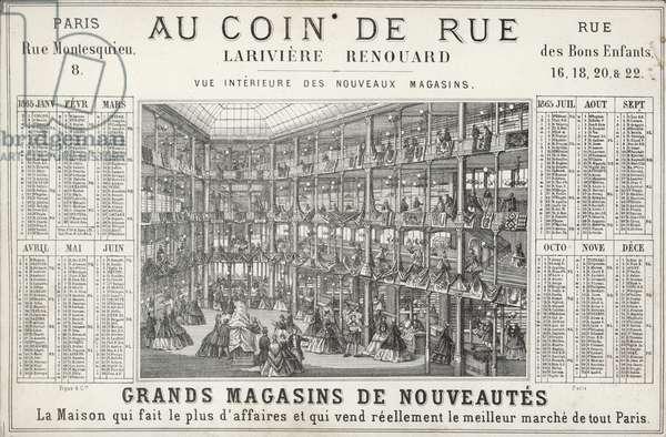 Lariviere Renouard department store, Paris (litho)