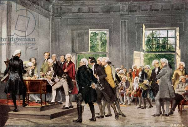 The Declaration of Independence (colour litho)