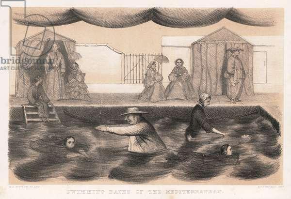 Swimming Baths of the Mediterranean (engraving)