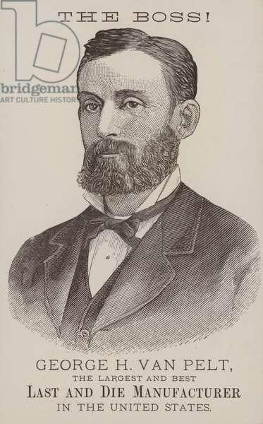 George H van Pelt, American last and die manufacturer (litho)