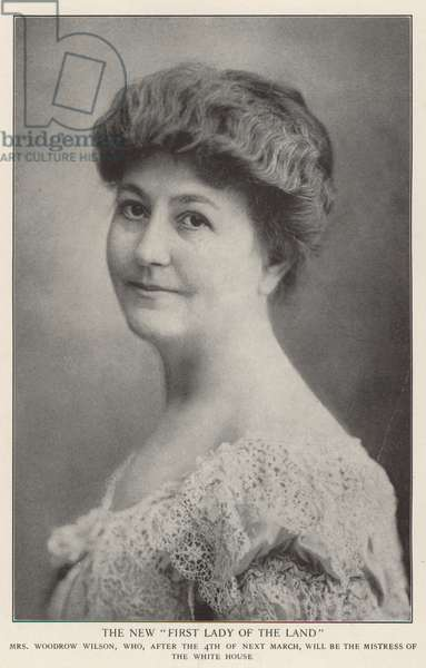 Mrs Woodrow Wilson (b/w photo)