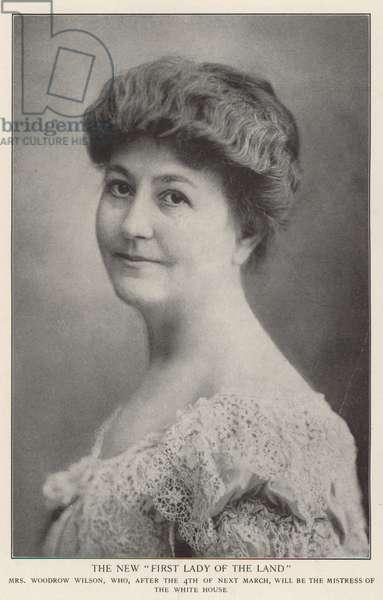 Mrs Woodrow Wilson (b/w photo)