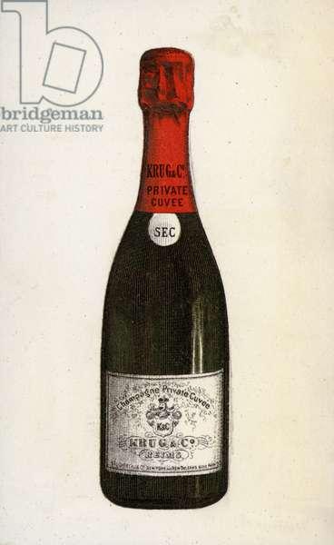Krug champagne (chromolitho)