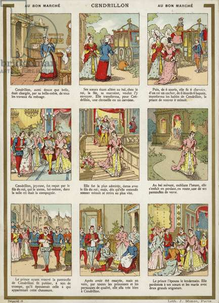 Comic Strip - Cinderella (chromolitho)