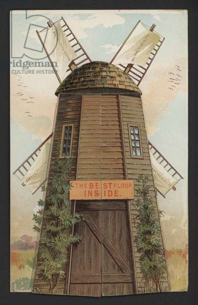 Windmill (colour litho)
