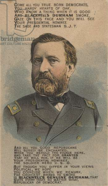 Ulysses S Grant, 18th President of the United States (colour litho)