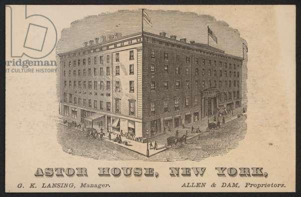 Astor House, New York, USA (engraving)