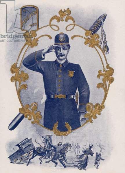 American policeman (chromolitho)