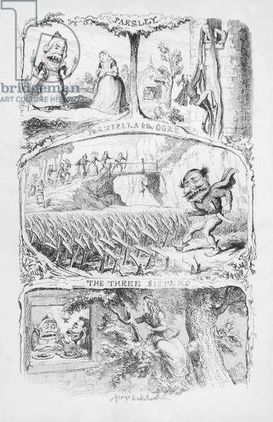 Illustration for The Pentamerone by George Cruikshank (engraving)