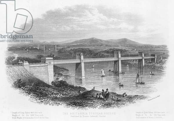 The Britannia Tubular Bridge (engraving)