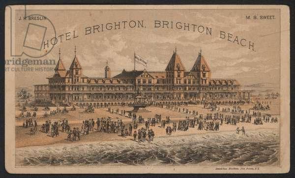 Hotel Trade Card (coloured engraving)