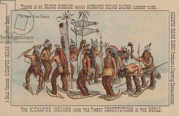 Native American snow shoe dance (chromolitho)