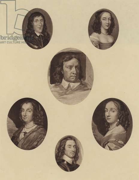 Group of Six Miniatures (litho)