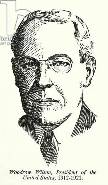 Woodrow Wilson, President of the United States, 1912-1921 (litho)