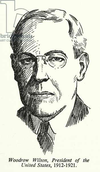 Woodrow Wilson, President of the United States, 1912-1921 (litho)