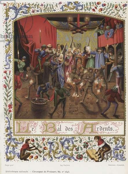 Le Bal des Ardents (chromolitho)