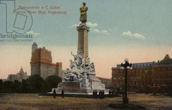 Monument to Christopher Columbus in Buenos Aires, Argentina (photo)