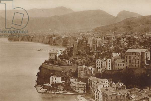 Sorrento, Panorama (b/w photo)