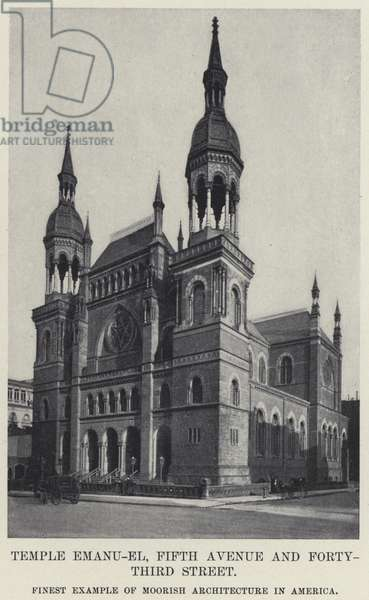Temple Emanu-El, Fifth Avenue and Forty-Third Street (b/w photo)