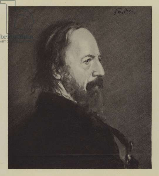 Lord Alfred Tennyson (litho)