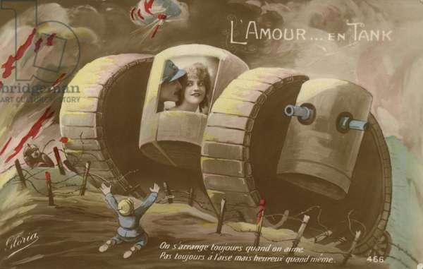 Romance in a tank (colour photo)
