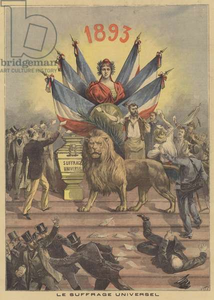 Universal suffrage (colour litho)