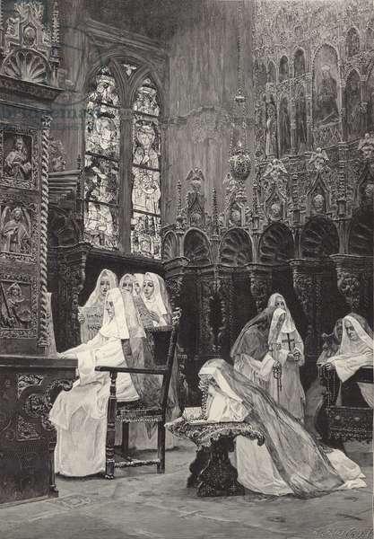 The morning hymn (engraving)