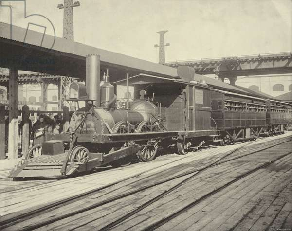The John Bull Train (b/w photo)